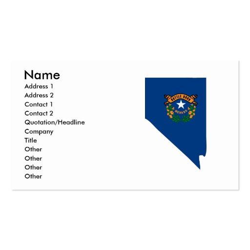 Nevada-Flaggen-Karte Visitenkarten Vorlagen