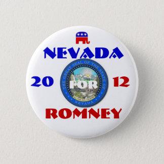 Nevada für Romney 2012 Runder Button 5,1 Cm