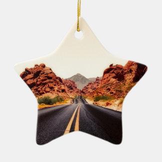 Nevada-Gebirgsstraßen-Landstraßen-Reise-Landschaft Keramik Ornament