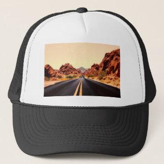 Nevada-Gebirgsstraßen-Landstraßen-Reise-Landschaft Truckerkappe