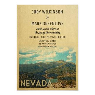 Nevada-Hochzeits-Einladungs-Vintage Mitte des Karte