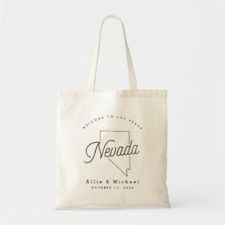Nevada-Hochzeits-Willkommens-Taschen-Tasche Tragetasche