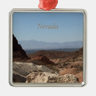 Nevada-Mountain View Silbernes Ornament