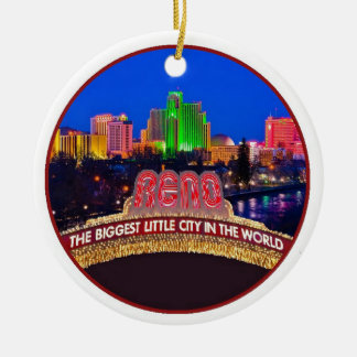 NEVADA Reno Rundes Keramik Ornament