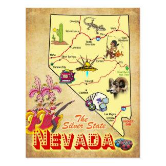 Nevada-Staats-Karte Postkarte