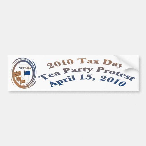 Nevada-Steuer-Tagestee-Party-Protest Autosticker