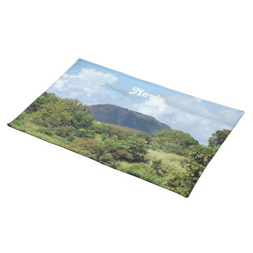 Nevis gestalten landschaftlich tisch sets