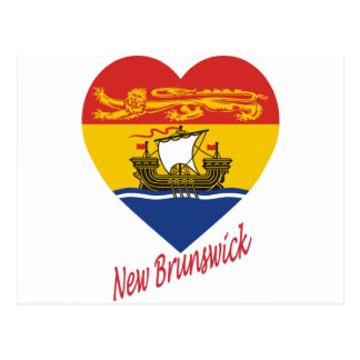 New-Brunswick Flaggen-Herz mit Namen Postkarte