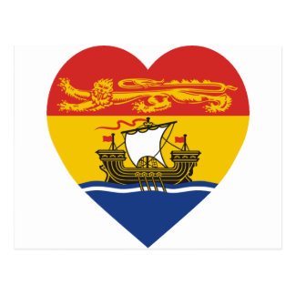 New-Brunswick Flaggen-Herz Postkarte