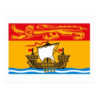 New-Brunswick Flaggen-Postkarte Postkarte