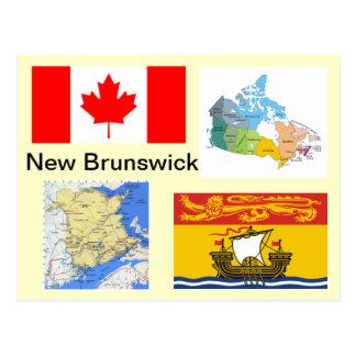 New-Brunswick Kanada Postkarte