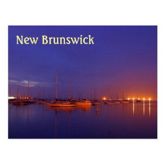 New-Brunswick Segelboote im Jachthafen an der Postkarte