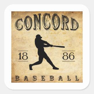 New Hampshire-Baseball der Übereinstimmungs-1886 Quadratischer Aufkleber