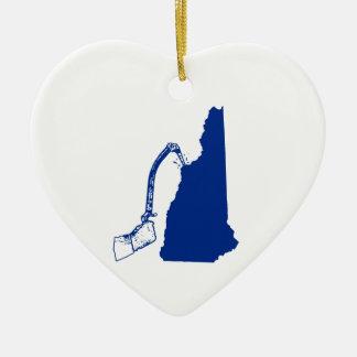 New Hampshire-Eis-Klettern Keramik Ornament