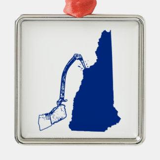 New Hampshire-Eis-Klettern Silbernes Ornament
