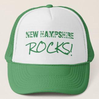 NEW HAMPSHIRE Felsen-Wort-Grün Truckerkappe