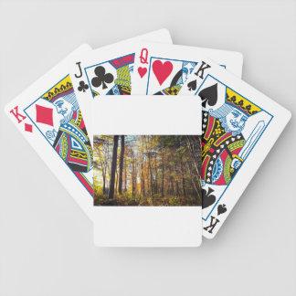 New Hampshire-Herbst-Wald Bicycle Spielkarten
