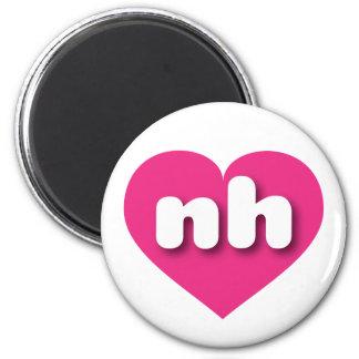 New Hampshire Herz heißen Rosas - MiniLiebe Runder Magnet 5,7 Cm