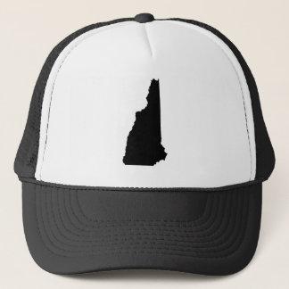 New Hampshire in Schwarzweiss Truckerkappe