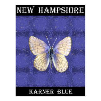 New Hampshire Karner Blau-Schmetterling Postkarte