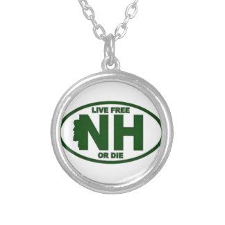 New Hampshire Livegebühr oder die Halskette Mit Rundem Anhänger