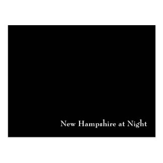 New Hampshire nachts Postkarte