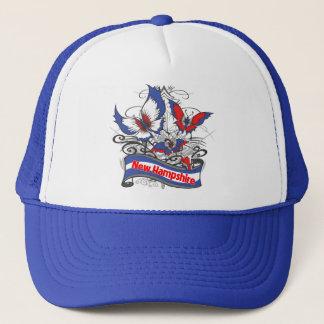 New Hampshire-Patriotismus-Schmetterling Truckerkappe