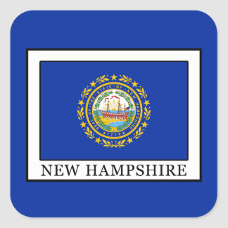 New Hampshire Quadratischer Aufkleber