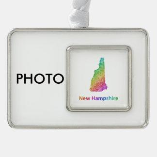 New Hampshire Rahmen-Ornament Silber