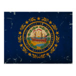 New Hampshire Staats-Flagge VINTAG Postkarte