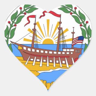 New Hampshire Staats-Siegel Herz-Aufkleber