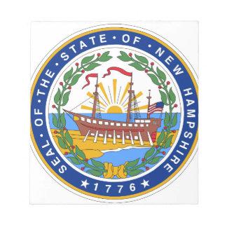 New Hampshire Staats-Siegel Notizblock