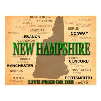 New Hampshire Vintage Karte