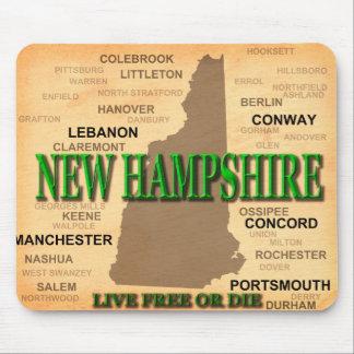 New Hampshire Vintage Karte Mousepad
