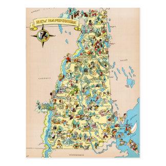 New Hampshire Vintage lustige Karte