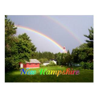 New Hampshireregenbogen Postkarte