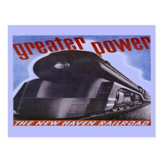 New-Haven Eisenbahn-größere Power-Postkarte 1938 Postkarte