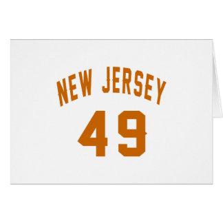 New-Jersey 49 Geburtstags-Entwürfe Karte