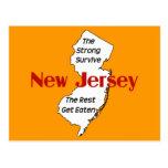 New-Jersey: die starken überleben; die Erholung er Postkarten