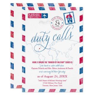 New-Jersey Luftpost-Weltkarte-Militärbewegen 12,7 X 17,8 Cm Einladungskarte