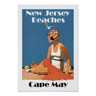 New-Jersey setzt ~ Cape May auf den Strand Poster