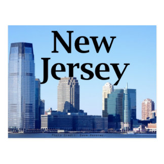 New-Jersey Skyline mit New-Jersey im Himmel Postkarte