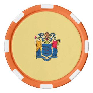 New-Jersey Staats-Flaggen-Entwurf Poker Chip Set