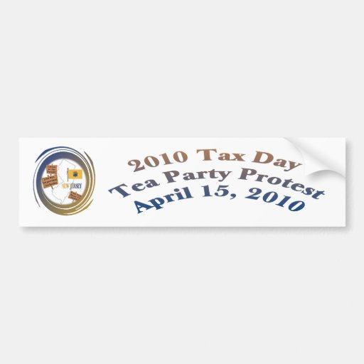 New-Jersey Steuer-Tagestee-Party-Protest Auto Sticker