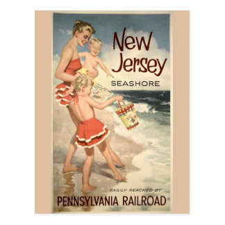 New-Jersey Vintage Reise-Plakat-Postkarte Postkarte