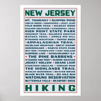 New-Jersey Wanderwege Poster