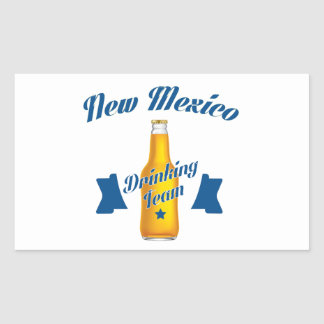New Mexiko, das Team trinkt Rechteckiger Aufkleber