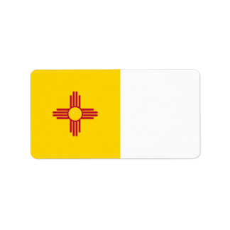 New Mexiko-Flagge Adressaufkleber
