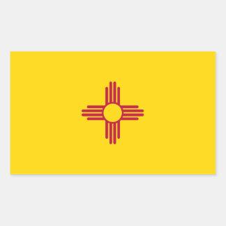 New Mexiko-Flagge Rechteckiger Aufkleber