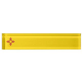 New Mexiko-Flagge Schreibtischplakette